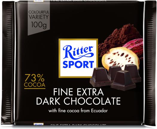 Ritter Sport Sport Extra Dark 73% 100g