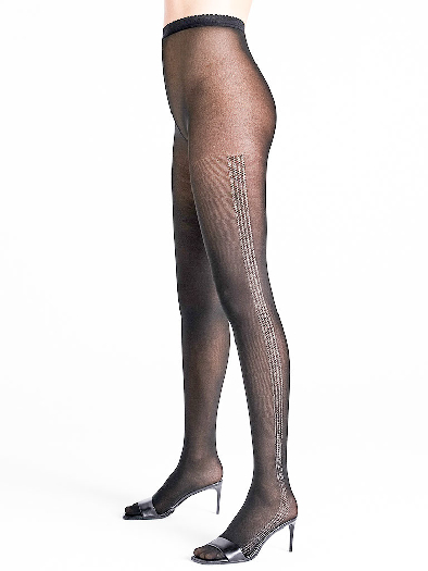 Wolford Silver Dust Tights black/silver L