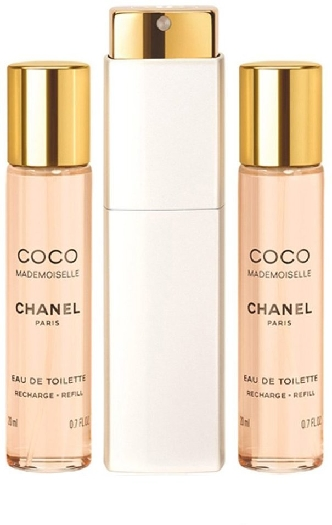 Chanel Coco Mademoiselle Twist and Spray with two Refills 3x20ml