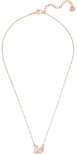 Swarovski Dazzling Swan Necklace, Multi-coloured, Rose Gold Plating