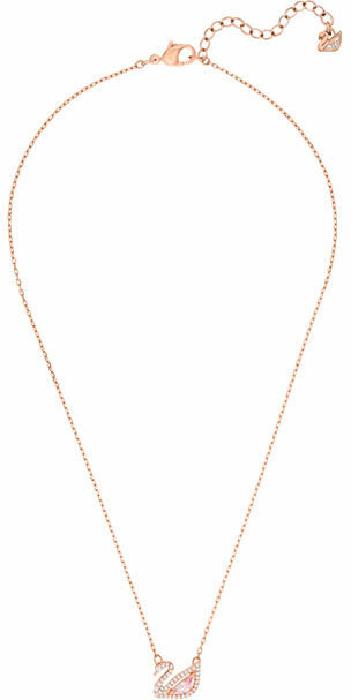 Swarovski Dazzling Swan Necklace, Multi-coloured, Rose Gold Plating