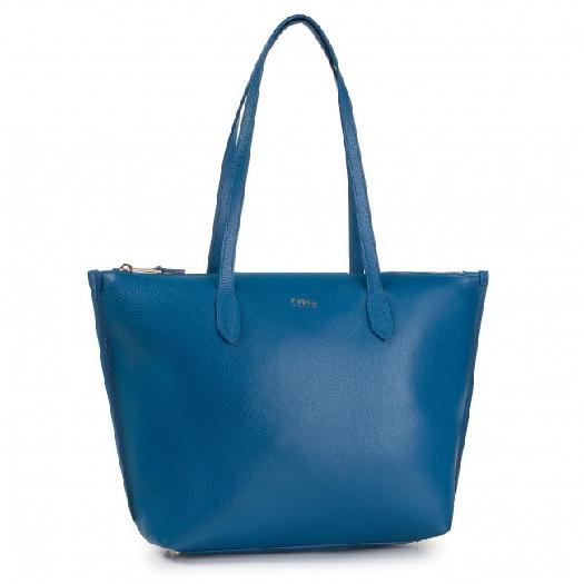 Furla Shopper Luce Blu Klein f