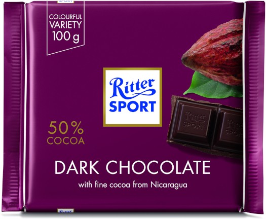 Ritter Sport Dark Chocolate 50% 100g 100g
