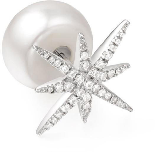 APM Monaco Mono Météorites Earring With Pearl - Silver
