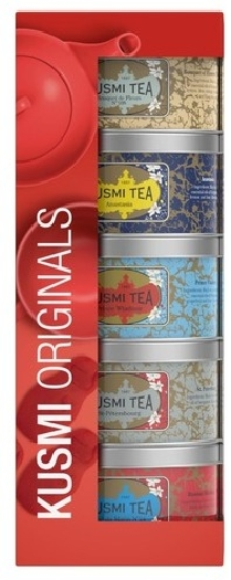 Kusmi Tea Gift set of 5 flavoured Black tea miniatures 125g