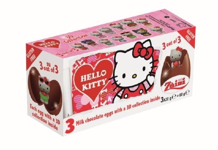 Hello Kitty Chocolate Egg 3-pack