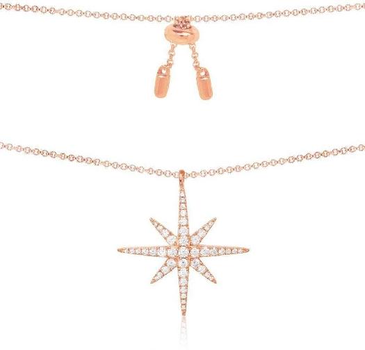 APM Monaco Météorites Adjustable Necklace - Pink Silver