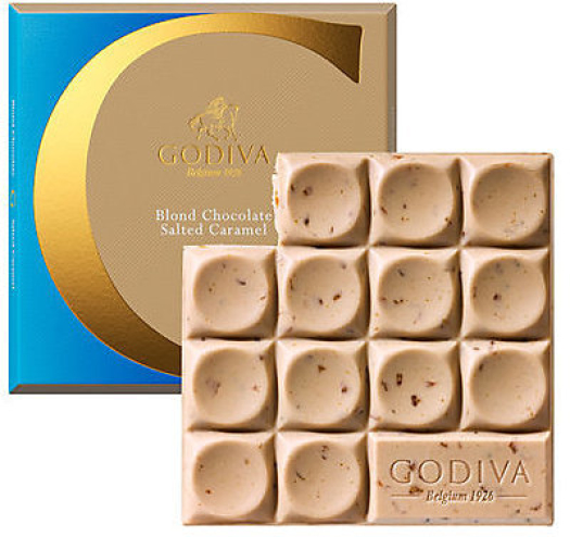 Godiva Tablet Blond Chocolate with Salted Caramel 75g
