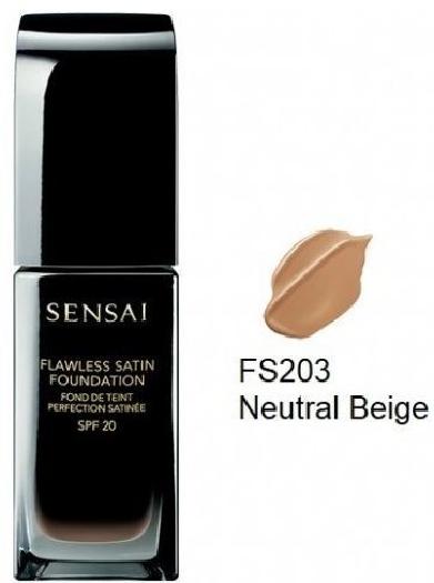 Sensai Fluid Foundation 22860 Flawless Satin Foundation N° FS203 Neutral Beige 30ML