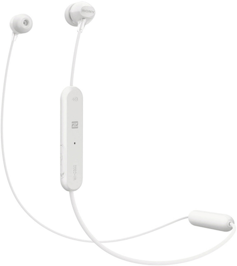 Sony WI-C300 Wireless In-Ear Headphones - White 15 g