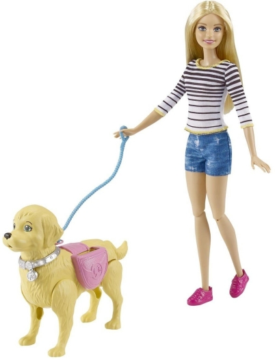 Barbie, walk potty pup