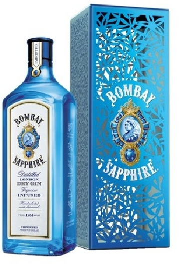 Bombay Sapphire 47%, giftpack