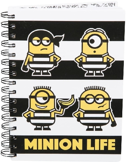 Minions Despicable Me 3 A5 Hardback Spiral Notebook