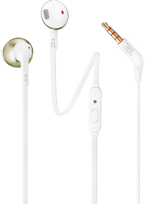 JBL T205 Earbud Headphones with Remote Champagne gold 14.3g