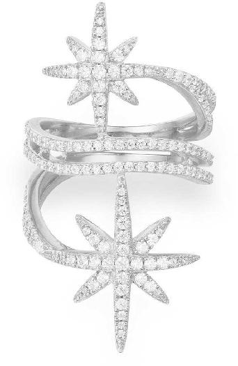 APM Monaco Silver Star Ring 56