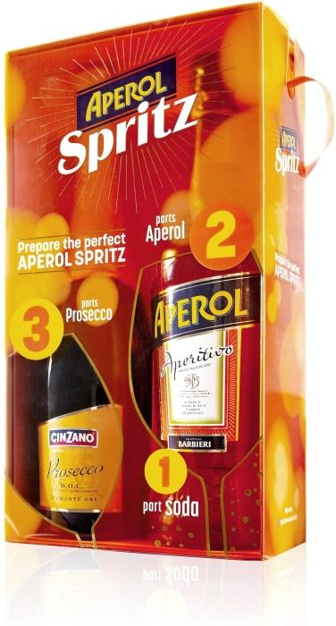 Aperol Spritz and Cinzano Prosecco