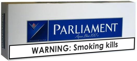 Parliament Aqua Blue Carton