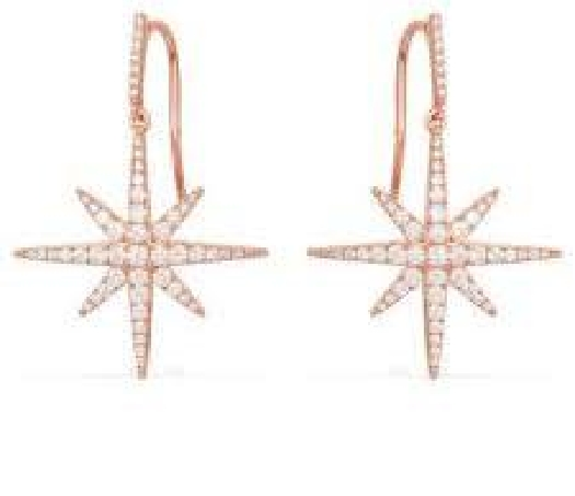 APM Monaco Météorites Earrings - Pink Silver