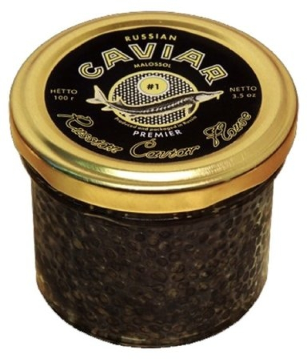 Russian Caviar House Premier Sturgeon Caviar Black 100g