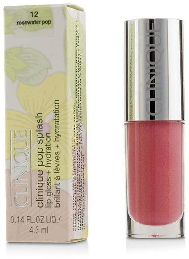 Clinique Pop Splash Hydration Lip Gloss #12 Rosewater Pop 4.3ml