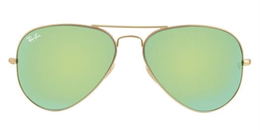 Ray-Ban Sunglasses Aviator in Matt Gold