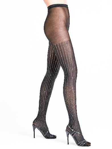 Wolford Sparkle Strip Tights black/silver M
