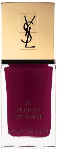 Yves Saint Laurent La Laque Couture Nail Polish N75 Fuchsia Over Noir 10ml