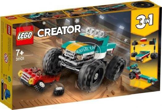 Lego Creator 3in1 Monster Truck 31101