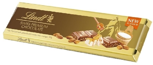 Lindt Gold Tablet Milk Crunchy Nougat 300g