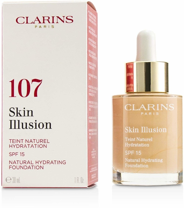 Clarins Skin Illusion Fluid Foundation SPF 15 #107 - Beige 30ml