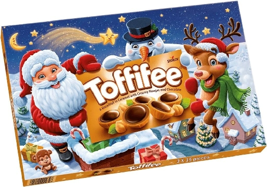 STORCK Toffiffee chocolates 190495 (Christmas pack.) 375g