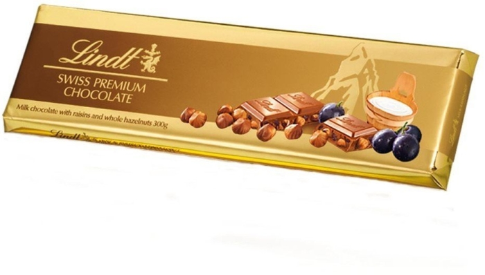 Lindt Gold Raisin Hazelnut 300g