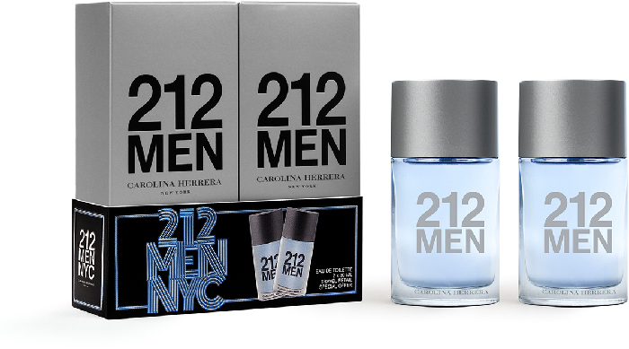 Carolina Herrera 212 Men Aqua Travel Duo Set 2x30ml