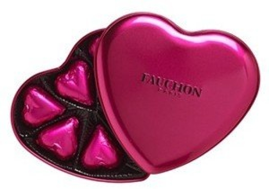 Fauchon 7 Milk Heart tin 75g