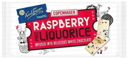 Karl Fazer Travel Raspberry Liquorice 130g