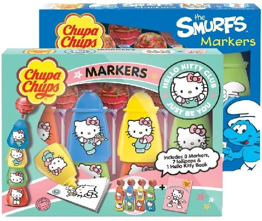 Chupa Chups Markers (Hello Kitty&Smurfs) 84g