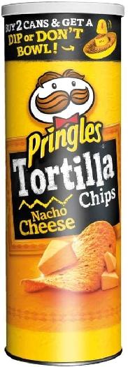 Pringles Tortilla Nacho Cheese 7001482 180g