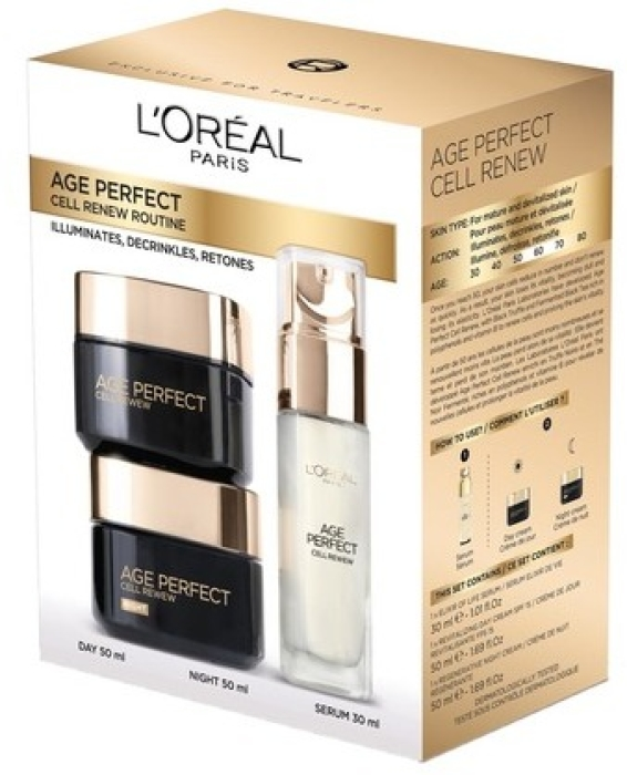 L'Oreal Paris Age Perfect Cell Renew Program Set 50ml+50ml+30ml