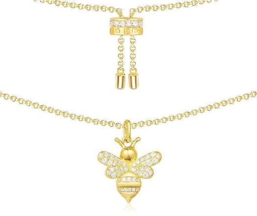 APM Monaco Bumble Bee Adjustable Necklace - Yellow Silver