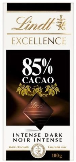 Lindt Excellence Dark Intense 85% Cacao 100g