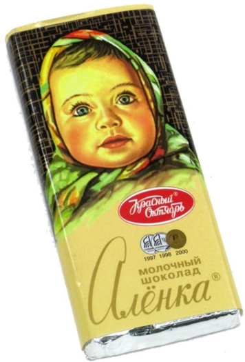 Krasny Oktyabr Milk Chocolate Alenka