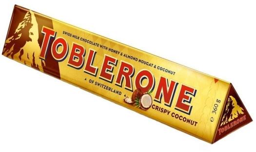 Toblerone Crispy Coconut 360g.