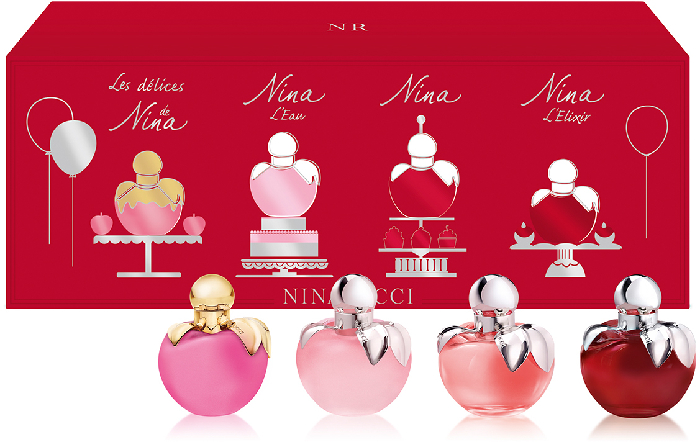Nina Ricci 4 Pieces Travel Set 4x4ml