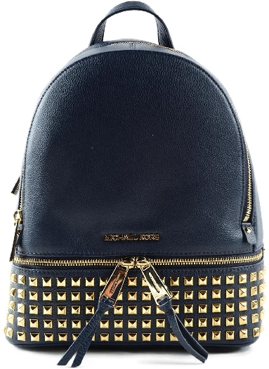 8aee0b6c74de ... best price michael kors rhea medium studded leather backpack 8f311 f8570