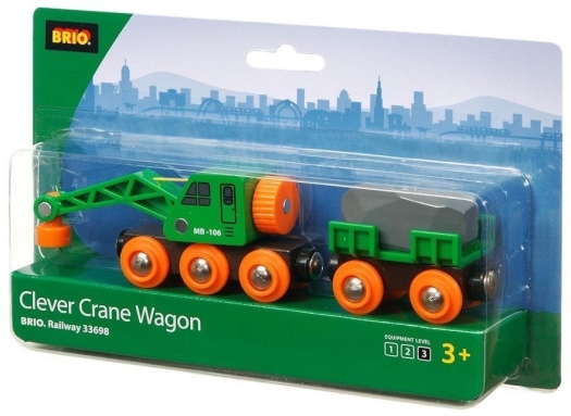 BRIO Green Crane Wagon