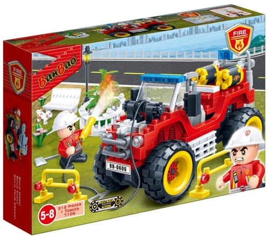 Banbao Fire Jeep Building Bricks 430g