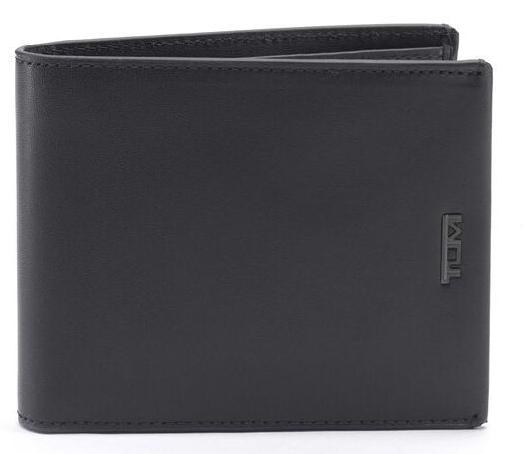 Tumi Nassau Global Double Billfold Wallet, Black Smooth 01262133DST060