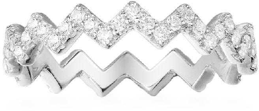 APM Monaco Up And Down Ring - Silver 56