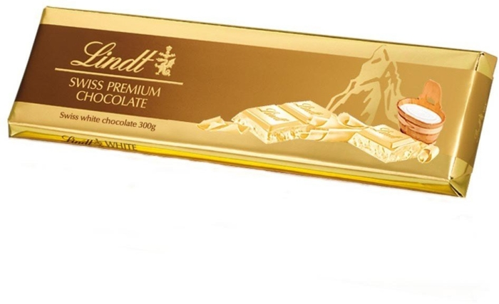 Lindt Tablet Gold White Chocolate 300g