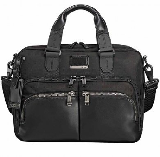 Tumi ALPHA BRAVO, ALBANY COMMUTER BRIEF, Black 0232640D